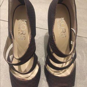 Michael Kors Leather Heel Shoes